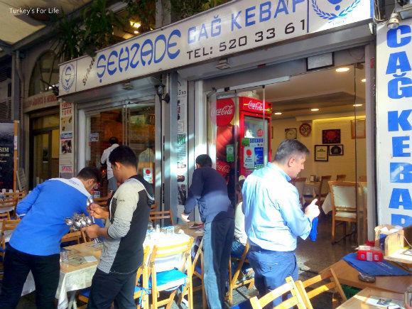 Şehzade Cağ Kebap, Hocapaşa Sokak
