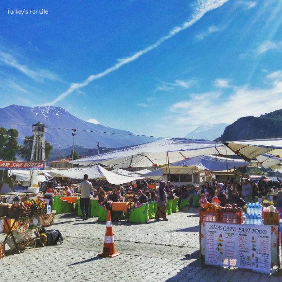 Eating Gözleme At Fethiye Market
