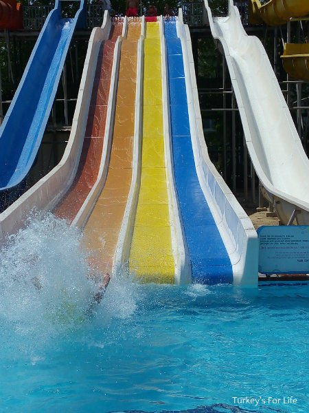 Water Slides At Çalış Water Park