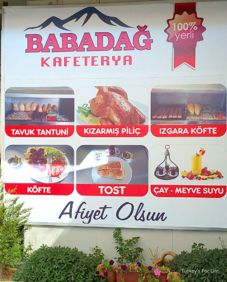 Menu At Babadağ Kafetrya