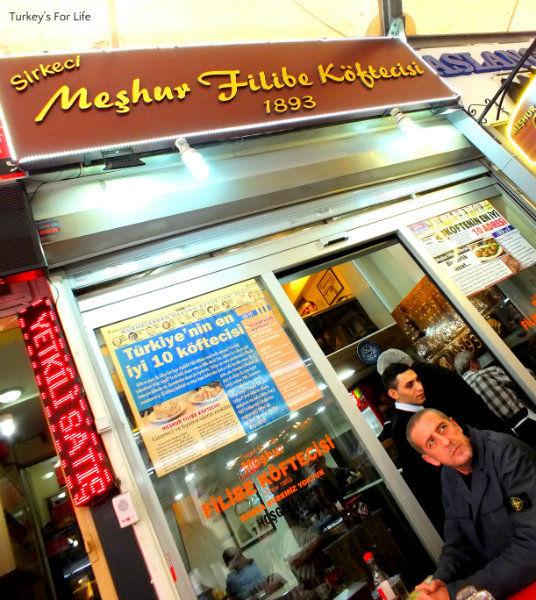 Meşhur Filibe Köftecisi, Sirkeci, Istanbul
