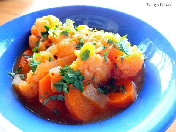 Turkish Cauliflower Stew Recipe