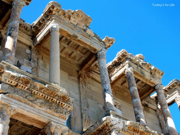 Ephesus Turkey, Celsus Library Detail