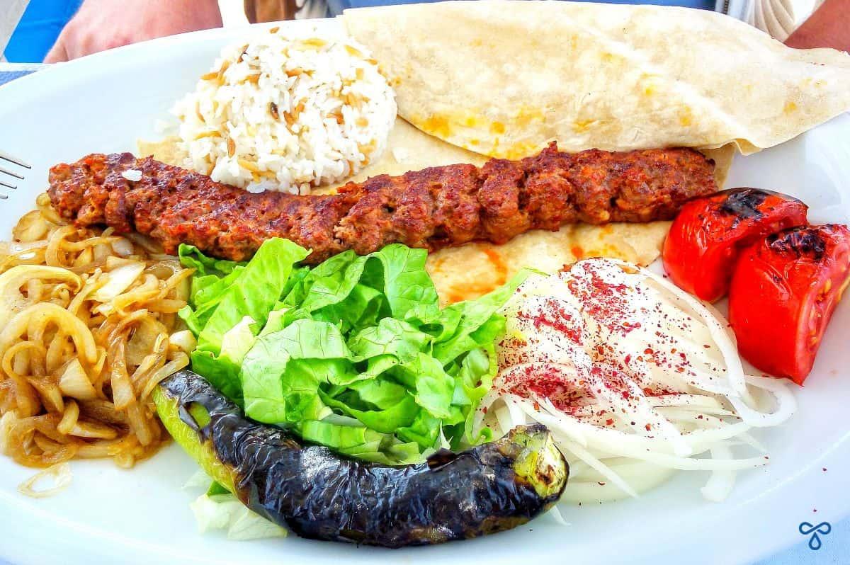 Adana Kebab At Boğaziçi Restaurant, Fethiye