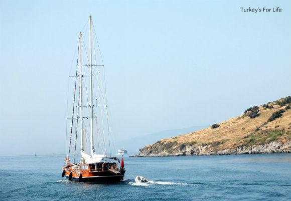 Leaving Bodrum Harbour