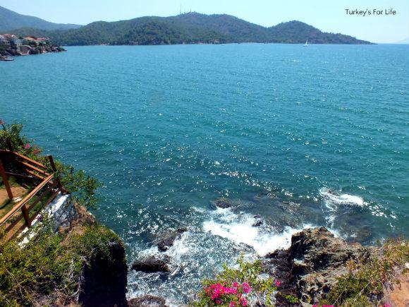 Cliff Views From Şövalye Adası Restaurant And Beach