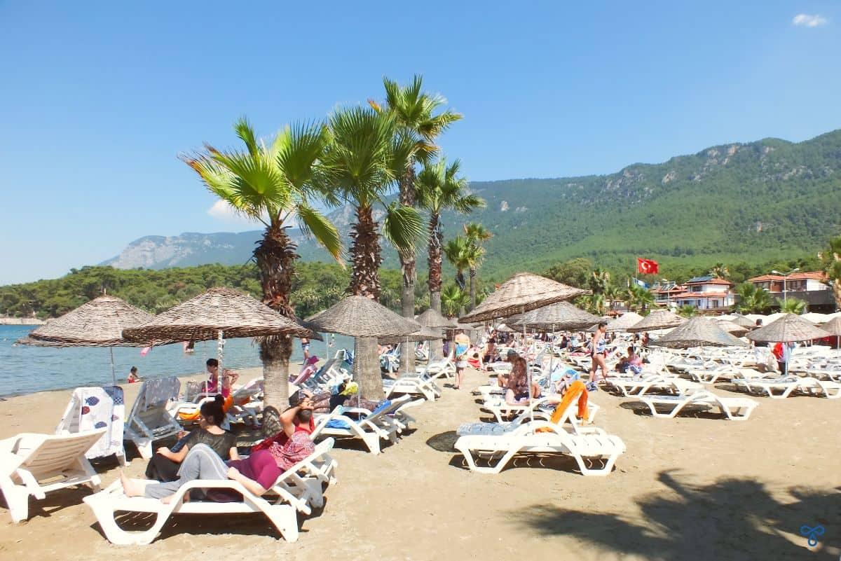 Akyaka Beach Sunbathing
