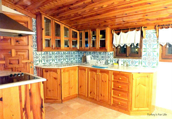 Kitchen At Villa Yonca Akyaka