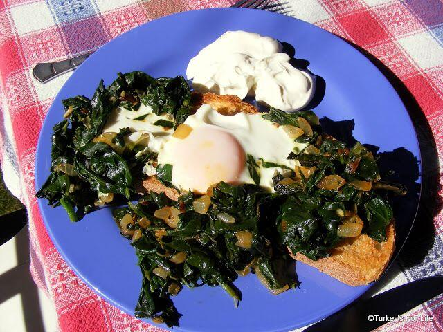 Turkish Spinach And Eggs