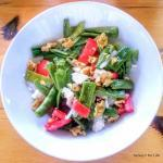 Roasted Green Bean Salad With White Cheese & Tomato – What's Not To Love?