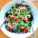 Dressed Purslane And Tomato Salad