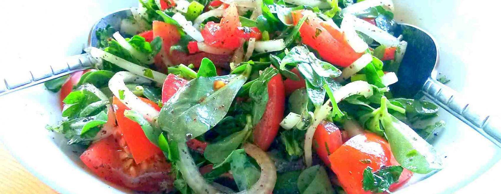 Turkish Purslane And Tomato Salad