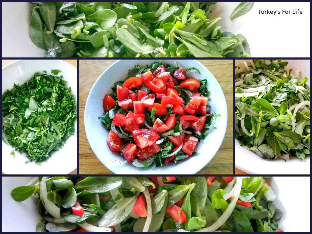 Turkish Purslane And Tomato Salad