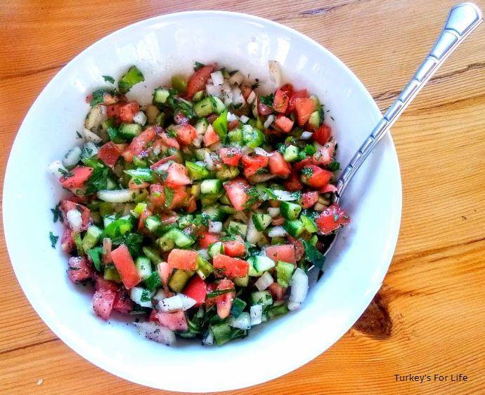 Shepherd Salad With Sumac