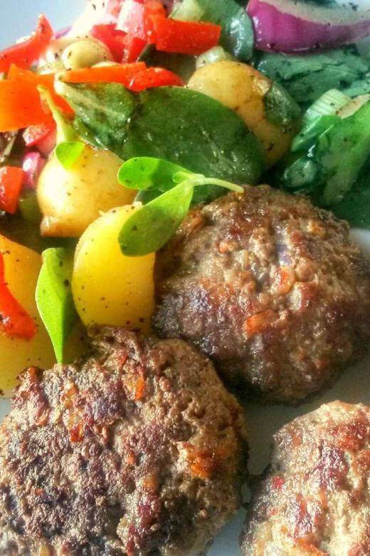 Homemade Köfte, Turkish Meatballs