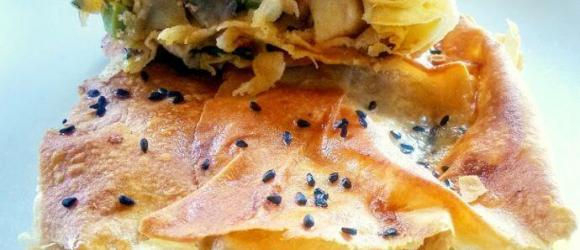 Serving Of Phyllo Meat Pie