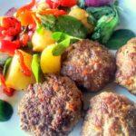 Homemade Köfte With Salad