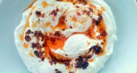 Turkish Poached Eggs Recipe - Çılbır