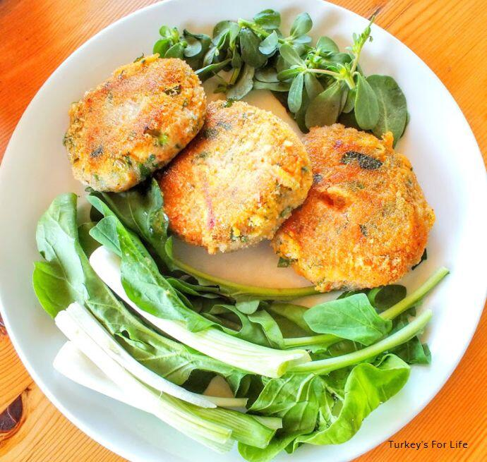 Sweet Potato And Trout Fish Cakes