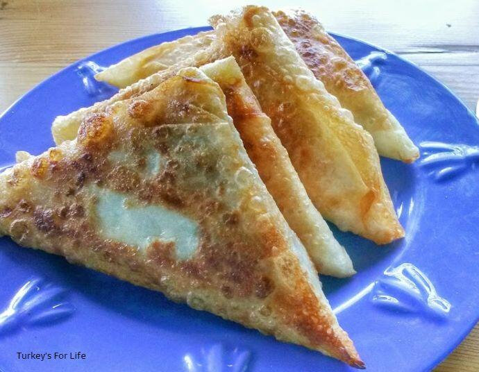 Seafood Filo Pastry Triangles