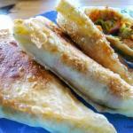Turkish Seafood Börek Triangles