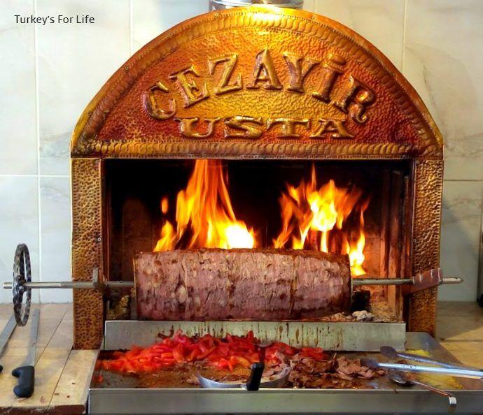 Döner Kebab Cooked With Wood