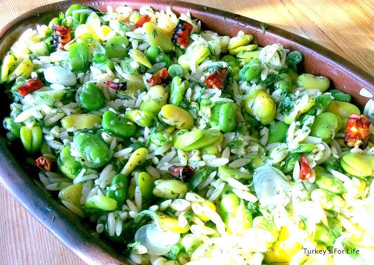 Orzo And Broad Bean Salad With Mint And Chilli