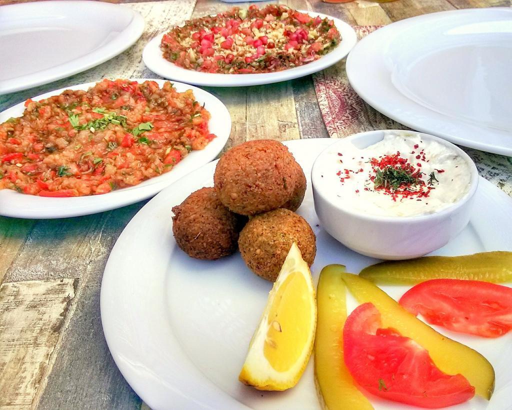 Falafel Served As A Meze Dish